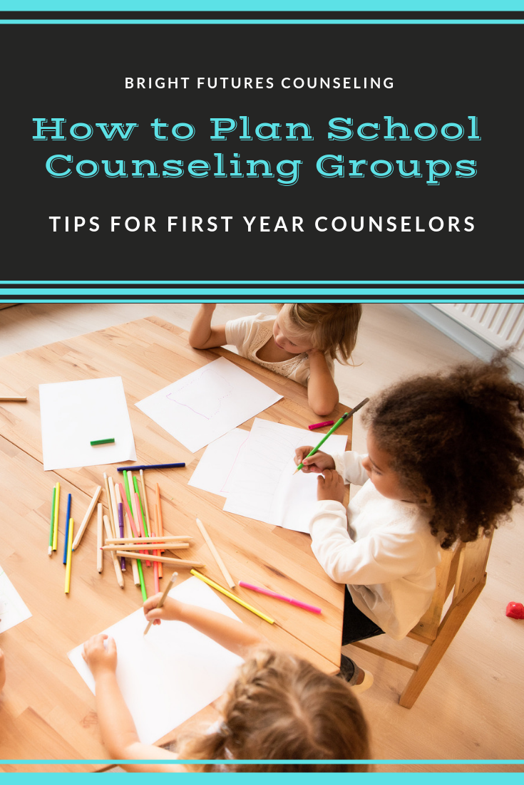 How to plan elementary school counseling groups : a guide for first year school counselors. #brightfuturescounseling #elementaryschoolcounseling #elementaryschoolcounselor #schoolcounseling #schoolcounselor #counselinggroups #schoolcounselinggroups