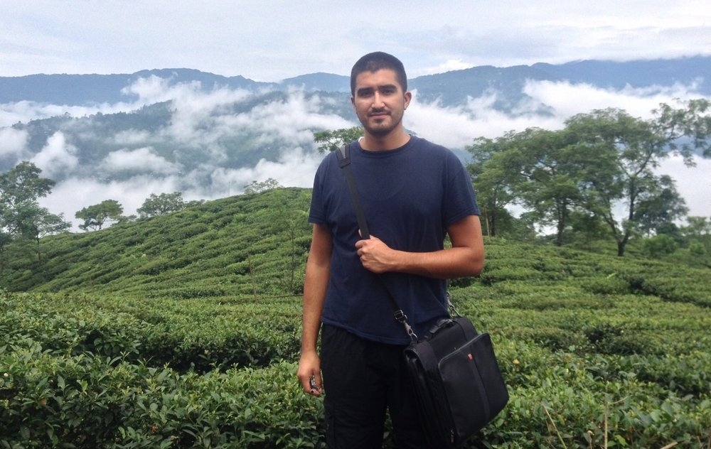 Fernando-Founder & CEO of Zen's Tea House. Photo taken August 2014 in the mountains of West Bengal, India, aka Darjeeling.