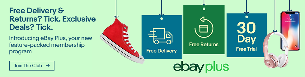 eBay Plus: Free Delivery, Free Returns.