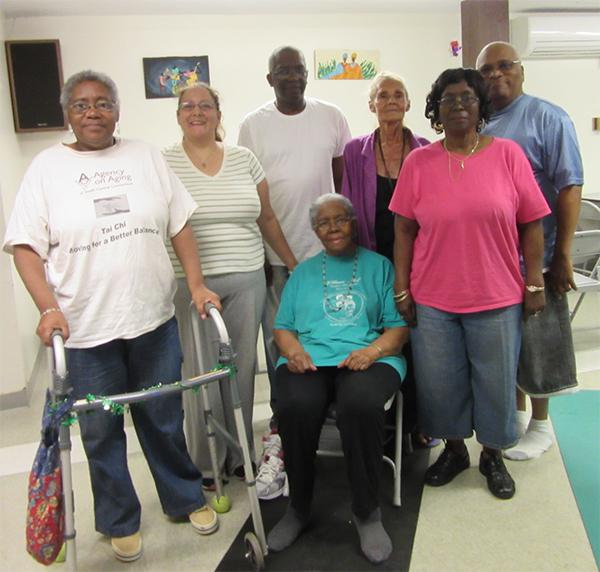 New Haven senior yoga class. Photo courtesy of Yoga4Change.