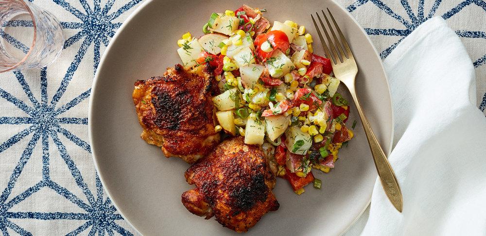 Brown Sugar Chili Chicken Thighs with Roasted Potato Salad —0084 — HERO.jpg
