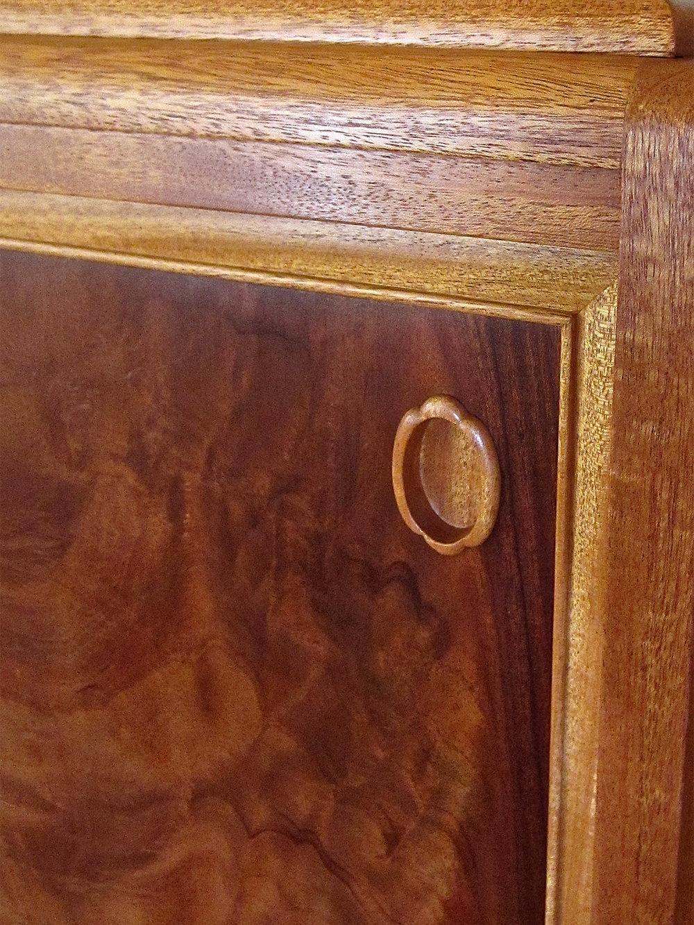 mahogany sideboard detail