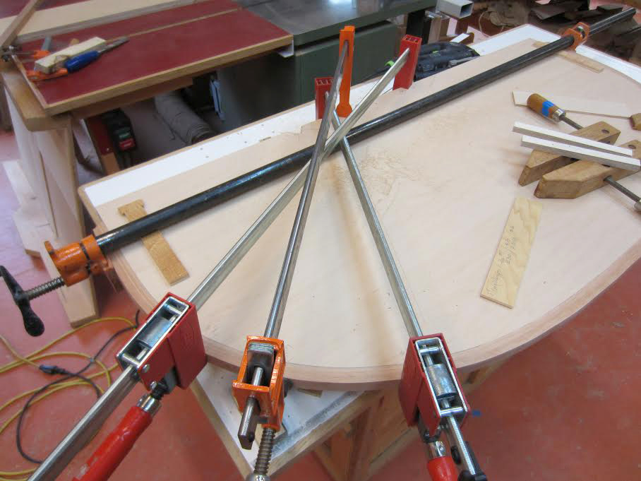 gluing lamination to cabinet part