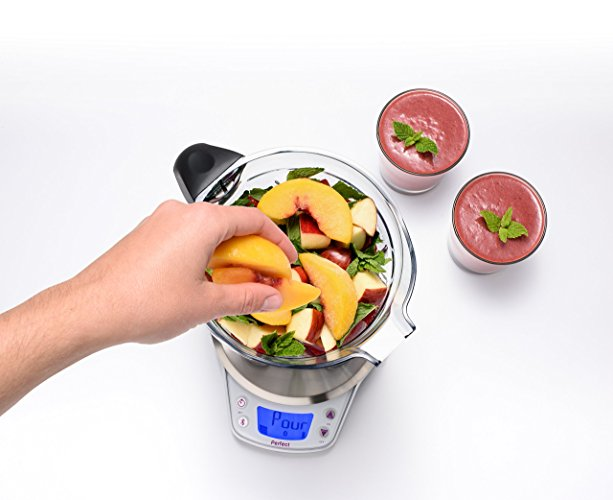 Perfect Blend : Using the Perfect Blend is as simple as choosing a recipe on Perfect's app, dropping ingredients into the blender until you hear the ping, and blending. The app automatically tracks your smoothie's nutritional content, leaving you to enjoy a refreshing healthy smoothie. We're all about easy living in 2018. Perfect for the health nut.