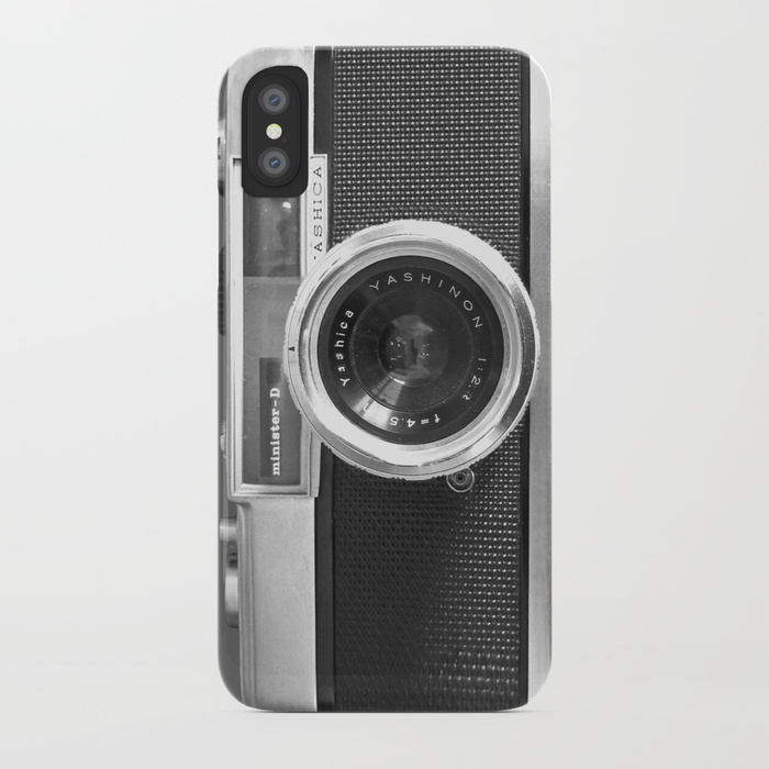 Society 6 Old School Camera Phone Case : Turn your smart phone into a retro camera and make your vintage Instagram filter that much more authentic. Perfect for the niece who wasn't alive during floppy disks.