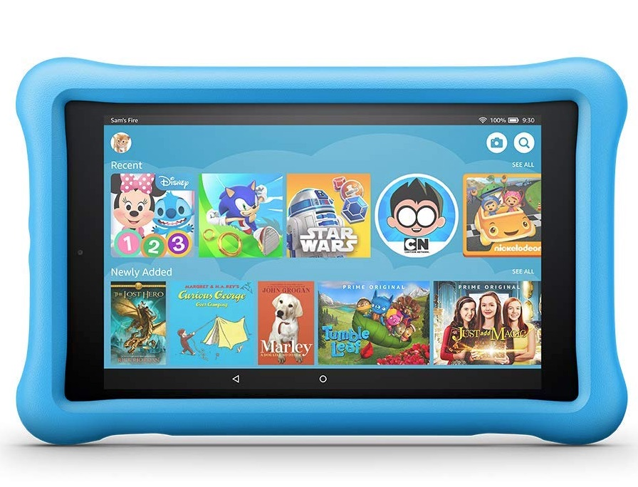 Fire HD 8 Kids Edition Tablet : Surprise them with a full-feature tablet of their own surrounded by a kid-proof case in their favorite color. The Fire has 32 GB of internal storage, 10 hours of battery life and comes with a 2-year worry-free guarantee.
