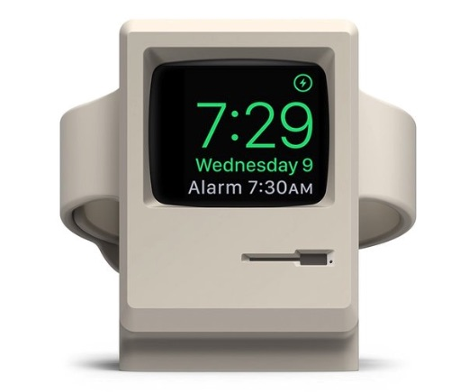 W3 Stand for Apple Watch : Check out this vintage design, which is a throwback to Apple's first computers. Connect your watch to the charger and use the stand like an alarm clock.