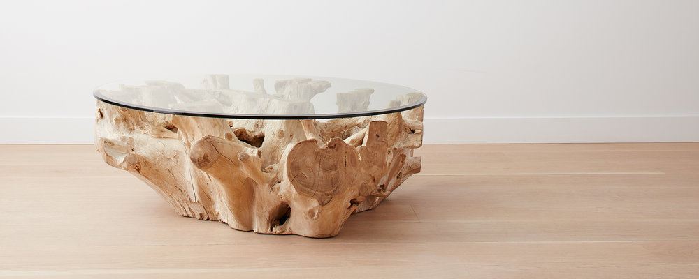 bleached root coffee table