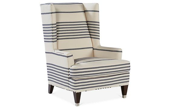 striped linen chair