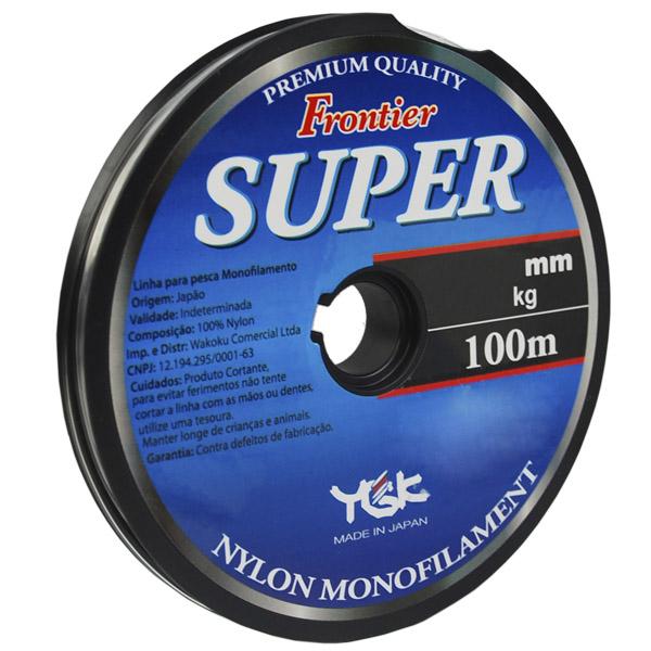 Frontier Super - O primeiro nylon da marca no Brasil. Fabricado em nylon de alta qualidade, resultando em uma linha de baixa memória e resistente à abrasão. Possui coloração transparente.