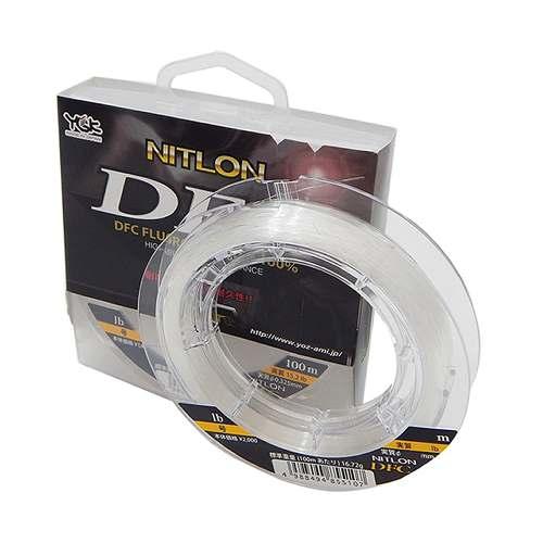 Nitlon DFC - Linha em fluorcarbono de alta qualidade (DFC) que chega a ser até 3x mais resistente do que as demais linhas de fluorcarbono. Possui ótima durabilidade, baixa elasticidade, baixo índice de refração, muito sensível, macia e altamente resistente à abrasão. Não possui memória como a linha de nylon.