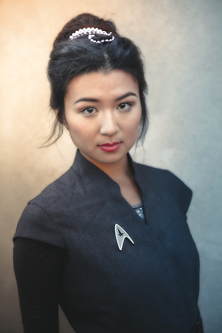 Star Trek: The Next Generation  's Deanna Troi hairstyle. Photo credit: Race Point Publishing, an imprint of The Quarto Group
