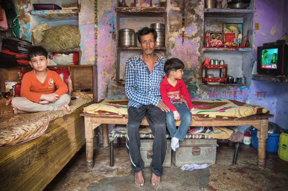 This little family is sharing a room with 4, the father works every day to help his boys being educated as much as possible. You can see letters on the wall written which is special, because not all boys have the chance to go to school. Others need to support the families at a very young age.