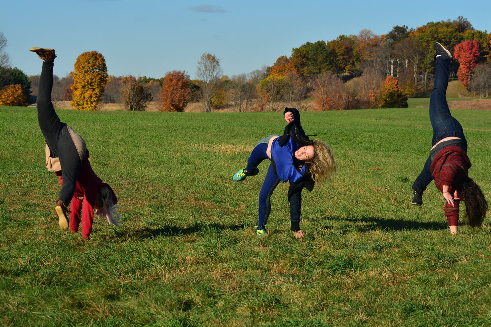 Three Stages of Cartwheels on the South Fields