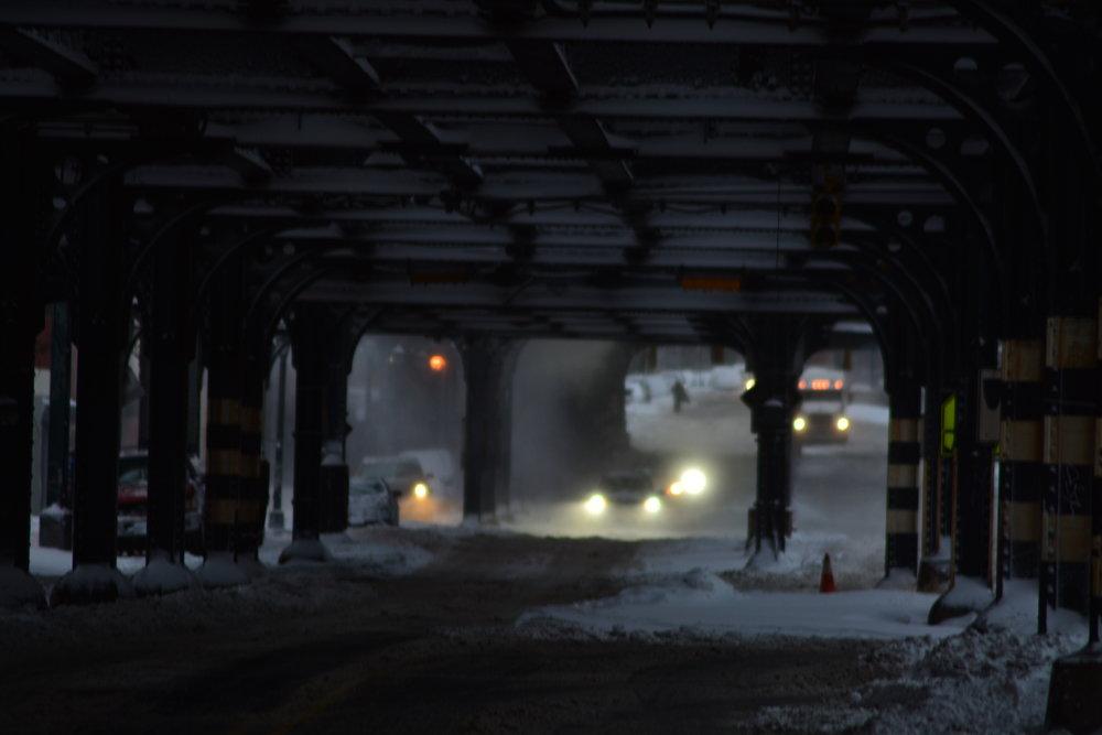 Under the El // Looking North on Broadway
