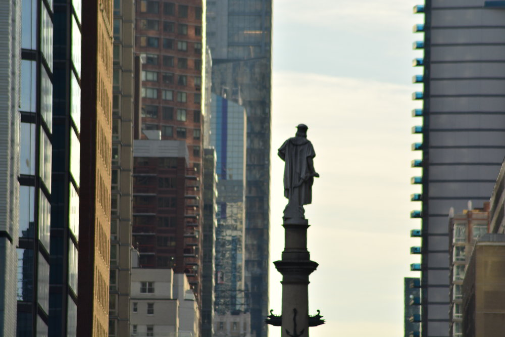 Christopher Columbus Watching us Walk By