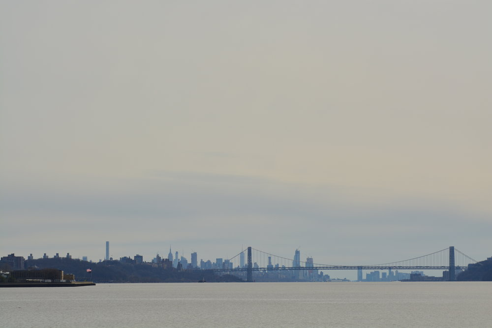 Hudson River South to George Washington Bridge & NYC