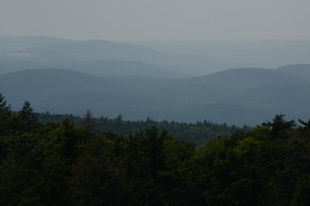 Catskill Mountains from Limestone Cliffs