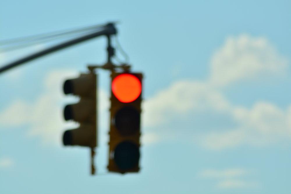 Red Light // Blue Skies