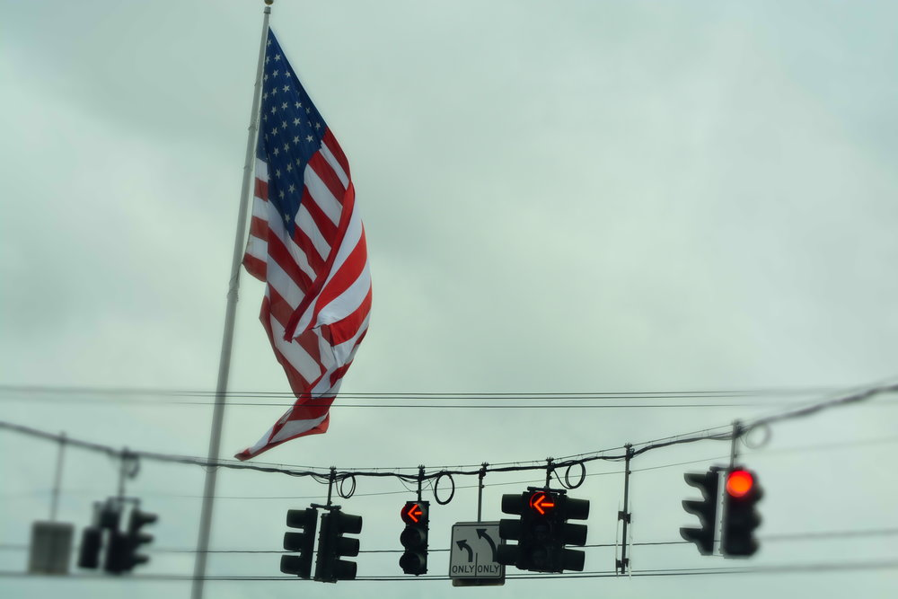 Big American Flag at Rte. 17k Junction