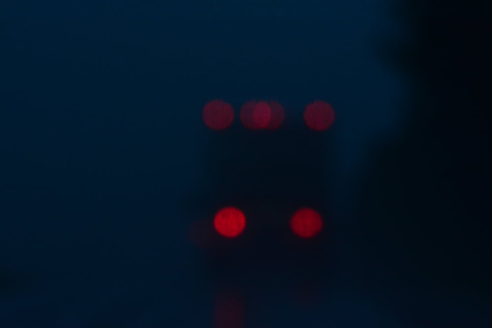 Tail Lights Abstracta // Coach Bus Heading South on Rte. 17