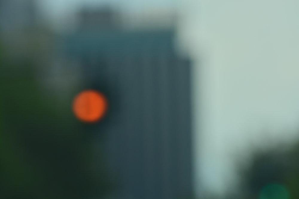 West Side Abstarcta // Red Light & Building
