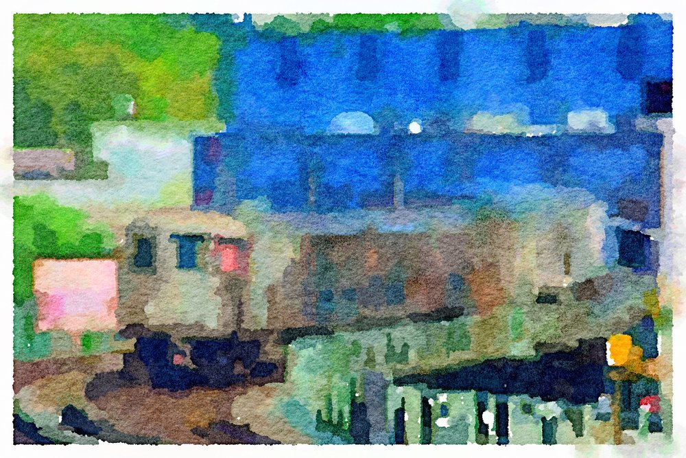 Uptown 1 Train from 225th St. (Watercolor)