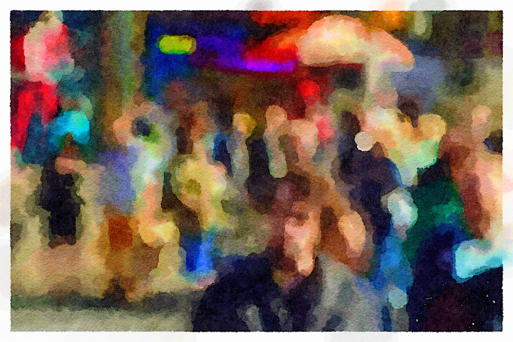 Seurat in Times Square