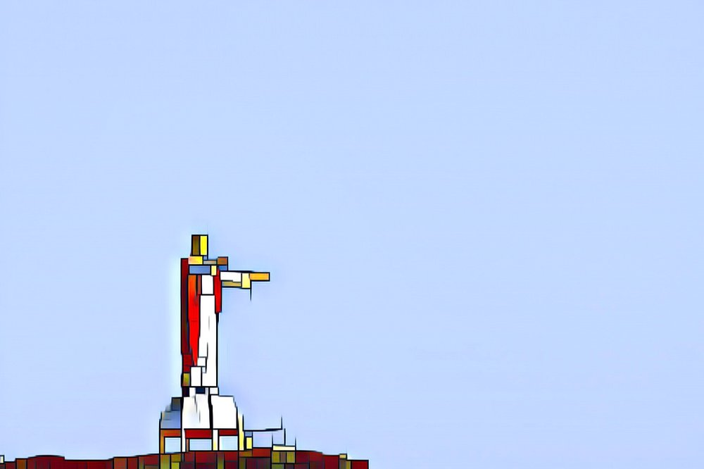 Mondrian Jesus of the Sea