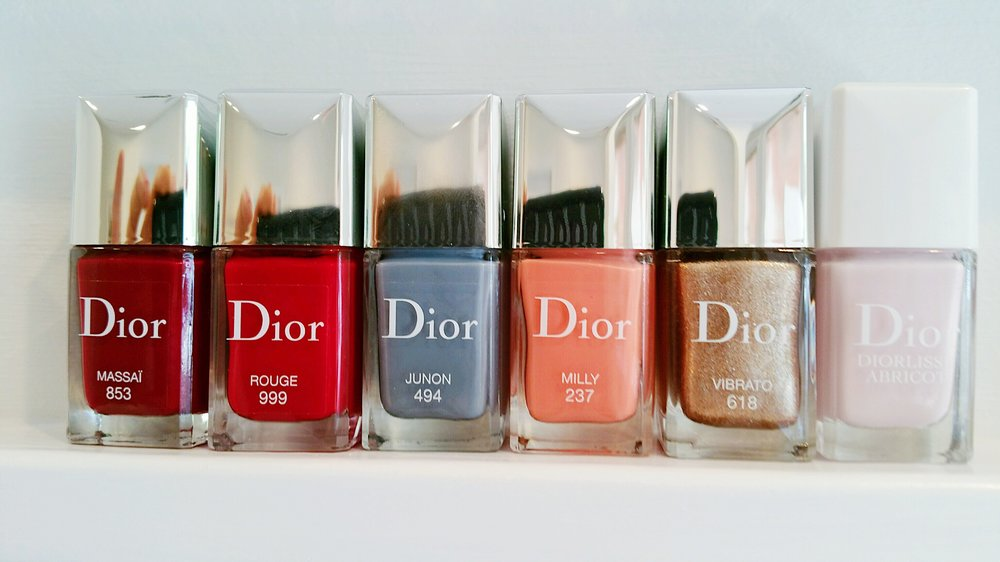 polish brands - We carry a wide selection of polish brands to choose from, including Dior. London Town nail lacquer improves nail quality and manicure length with every application. We also have Barielle colors, which are cruelty free and pregnancy safe. Ask a technician for more information.