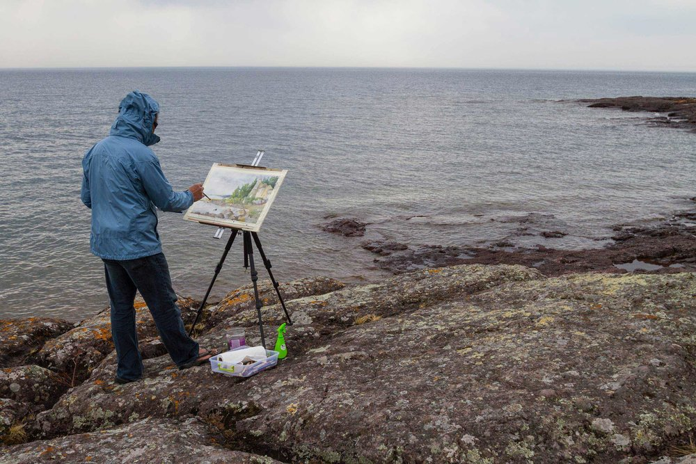 """Plein Air"" (live, landscape) painting"