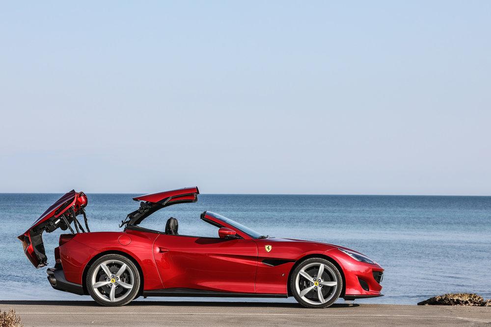 Ferrari Portofinno Roof Down