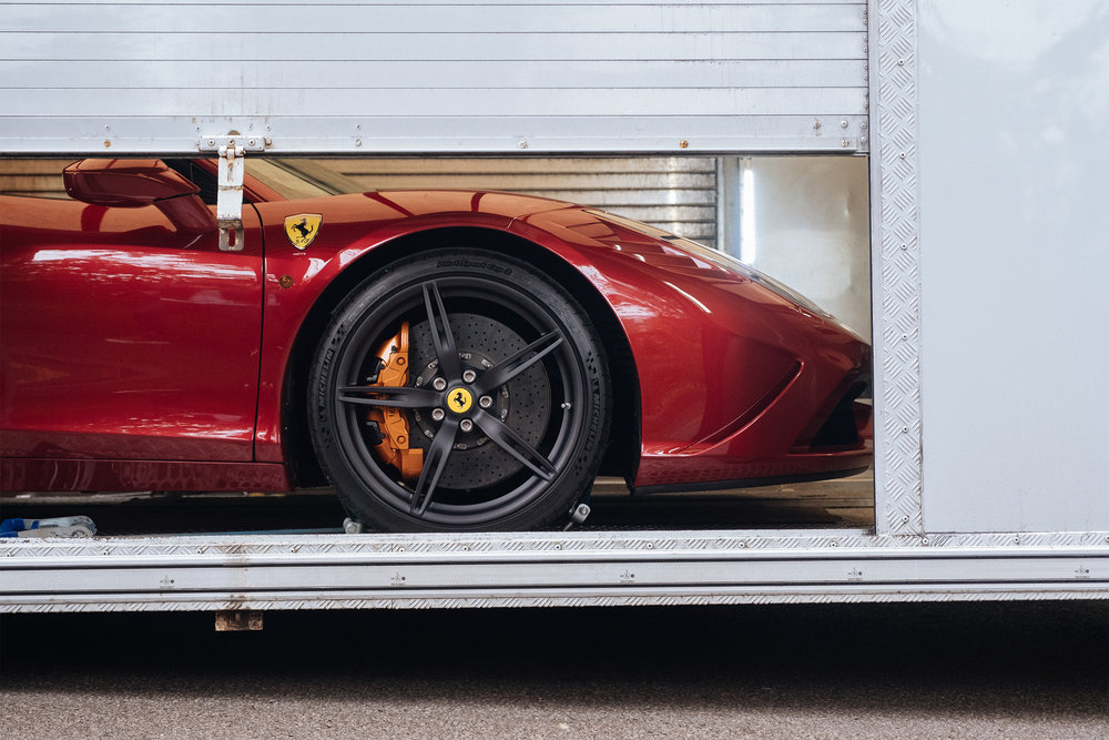 Ferrari 458 Speciale | Transporter To Dubai | U.K.