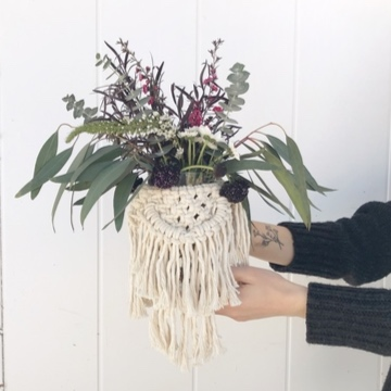Floral Bouquet and Macrame Wrap