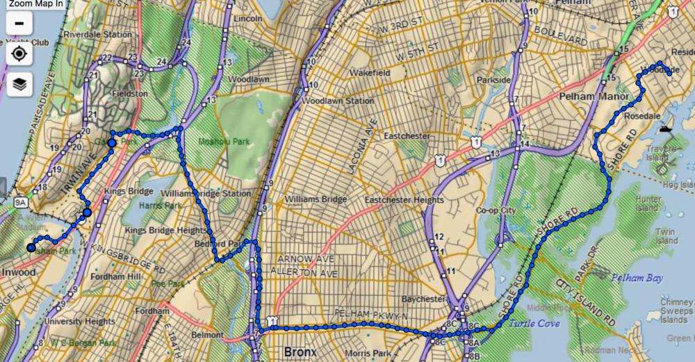 Bronx, NY to New Rochelle, NY