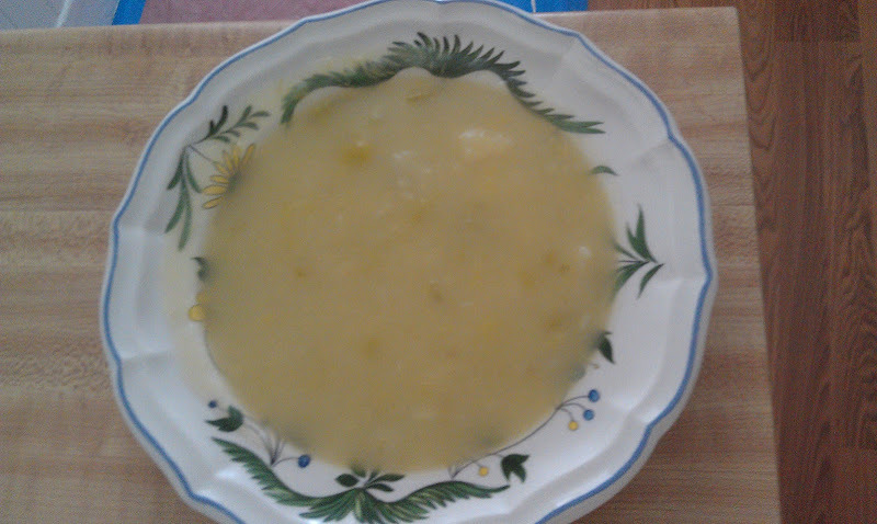 This is a chunky style of classic Potato Leek Soup.      Serves 4-6    4 cups leeks, chopped   4 cups Potatoes, cubed (about 1 inch)   2 cups Celery, diced   2 TBSP Olive Oil    2 tsp. sea salt   5 cups water   Heat the oil in a large soup pan, add the leek and celery. Cover and cook on a low flame for 5 minutes. Add the potatoes and salt. Pour the water over the vegetables. Bring to a boil, lower fire, cover and simmer for 30- 40 minutes until the potatoes are cooked through.    Remove half of the vegetables and put in a blender and lightly puree, not all the way, you still want to see the potatoes and leeks. Return them to the pot, stir, adjust seasoning. Enjoy. This is a very easy soup to put together. It can be made quickly and it's very satisfying.