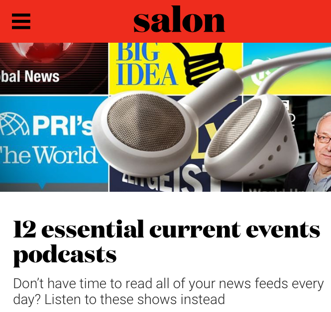Featured in Salon - #3 on the LIST OF