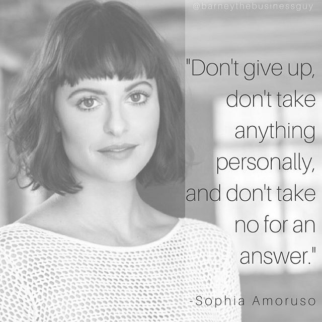 Sophia Amoruso is a woman who knows a thing or two about starting a successful business. Never take no for an answer.