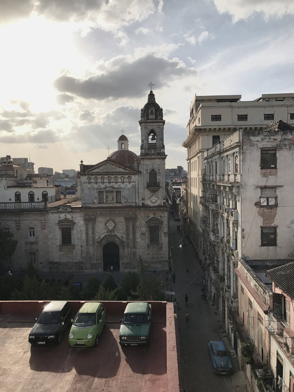 view from the roof - climb the stairs in paladar la guarida to find a really cool view of old habana.