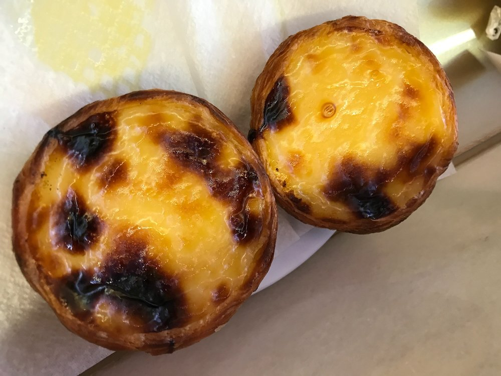 Manteigaria tarts - custard filled and very delicious.