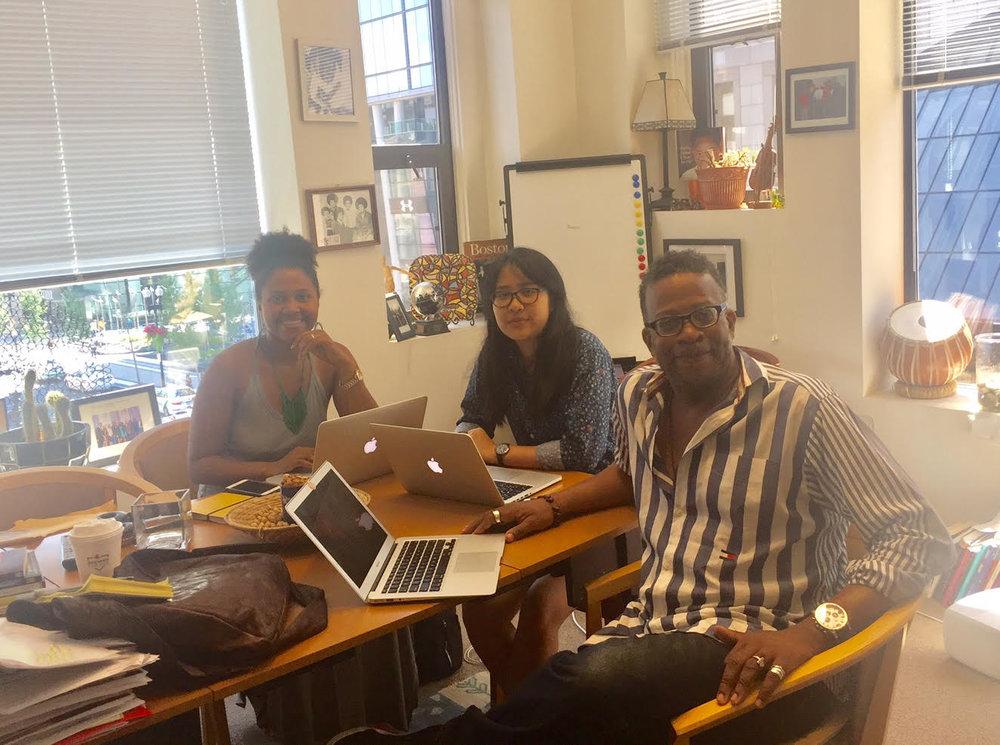 Team At work - Chika Olivia, Zoe Schneider, and B