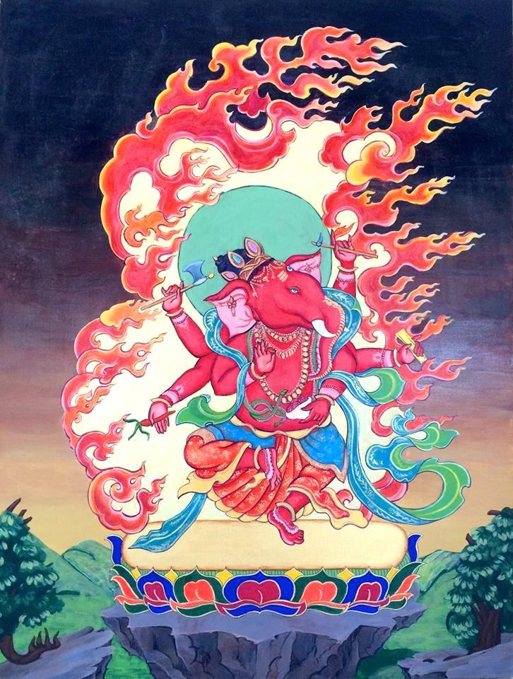 Tibetan Ganesh Painting — Devillier Art