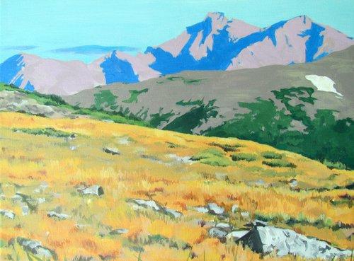 Rocky Mountain Landscape Painting - Rocky Mountain Landscape Painting — Devillier Art
