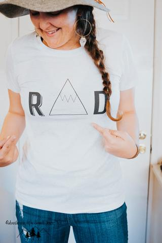 Rad T Shirt Womens Outdoor apparel by Adventuring of a Small Town Girl