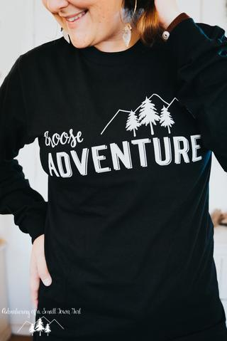 Choose Adventure Long Sleeve Womans shirt by Adventuring of a Small Town Girl.jpg