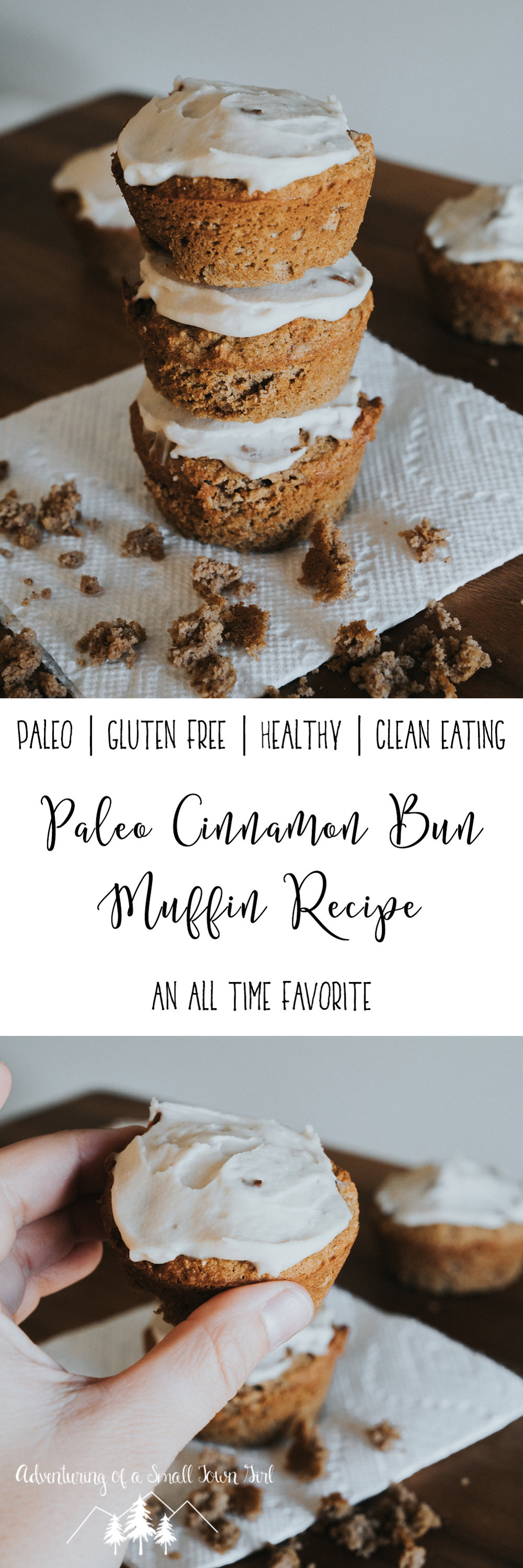Paleo Cinnamon Bun Muffin Recipe by Adventuring of a Small Town Girl - Recipes for adventures by ASTG
