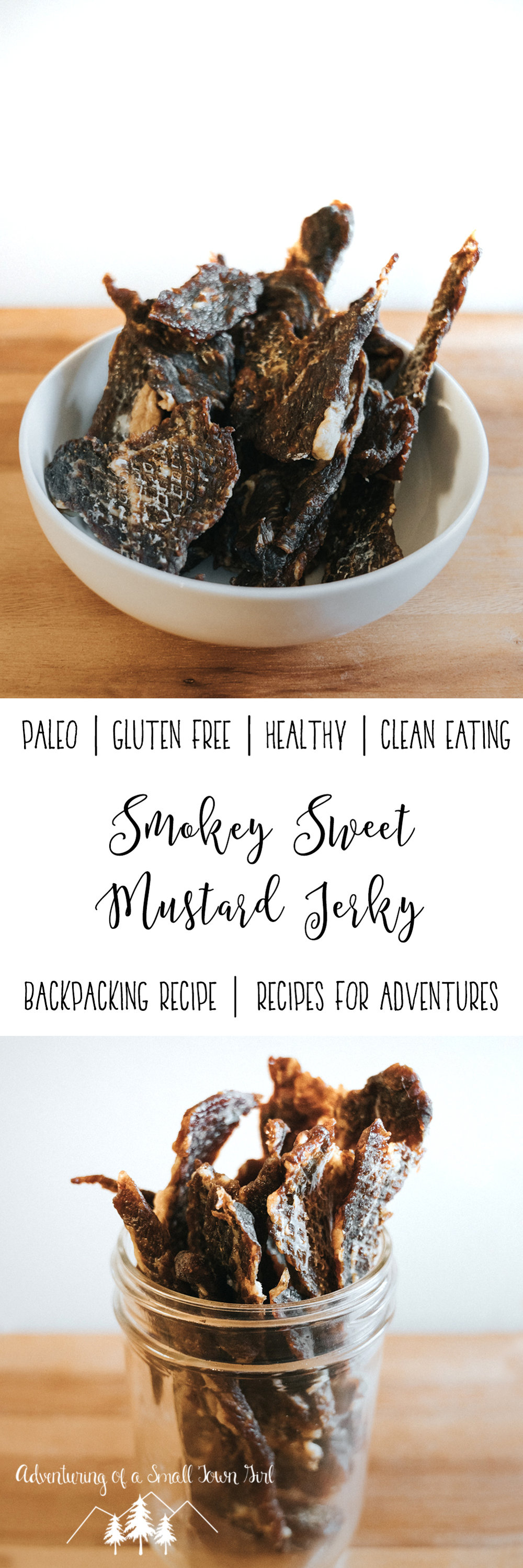 Dehydrated Smokey Sweet Mustard Jerky Recipe by Adventuring of a Small Town Girl - Recipes for Backpacking - Recipes for Adventures - Recipes for the trail Beef Jerky Recipe