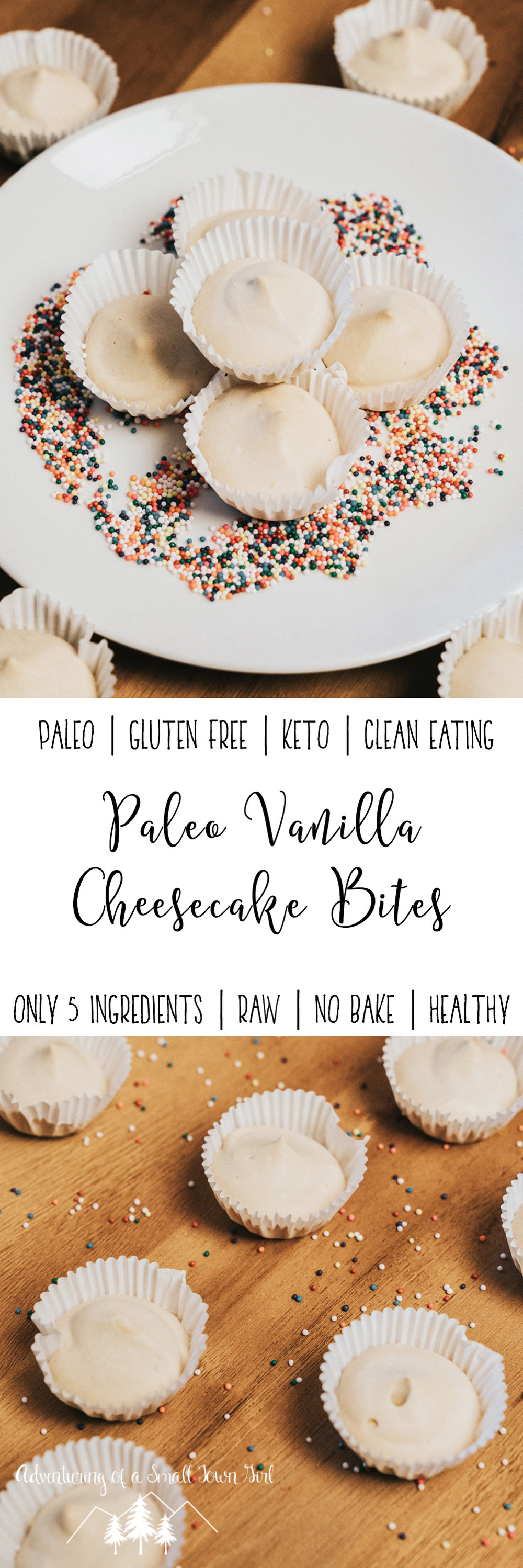 Paleo Cheesecake Bites Recipe- Vanilla Cheesecake Fat Bombs Recipe by Adventuring of a Small Town Girl - Healthy Paleo Dessert - Raw Dessert ASTG.jpg