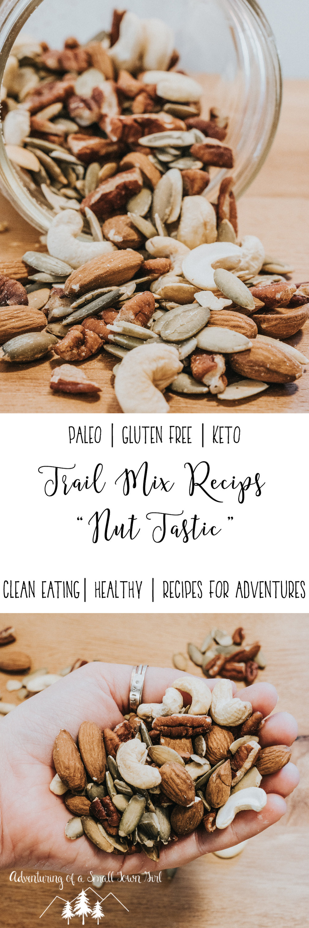 Homemade Trail Mix Recipe by Adventuring of a Small Town Girl (ASTG) - No Bake Raw Vegan Trail Mix - Make your own trail mix.jpg