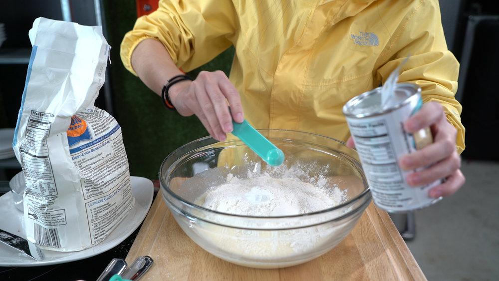 step 2 cont'd baking powder